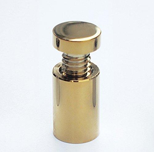 KIT 4 DISTANZIALI A VITE PER TARGHE DA PARETE MURO IN OTTONE CROMATO ARGENTO ORO - Gold