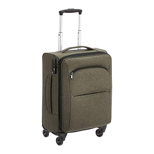 Amazon Basics Urban Carry-On Spinner Suitcase, 50.8 cm, Green