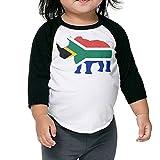 QPKMRTZTX0 Boys Girls Kids & Toddler South Africa Flag Rhino-1 Long Sleeve T-Shirt 100% Cotton