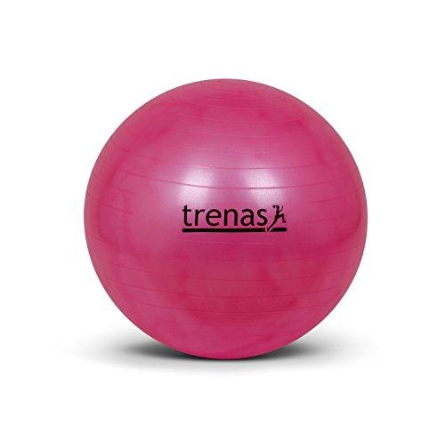 trenas Berstsicherer Gymnastikball - Sitzball - 55 cm - Pink - mit Pumpe