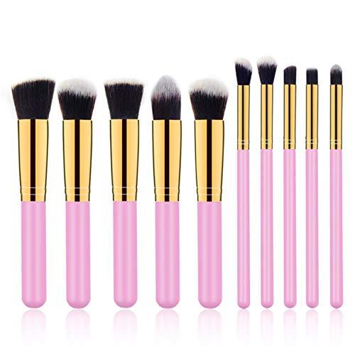 10 Stks Make-up Borstels kit Cosmetische Oog Gezicht Poeder Foundation Borstels Gereedschap eyeliner Concealer Borstels Cosmetische make-up Borstels, Oranje, Verenigde Staten