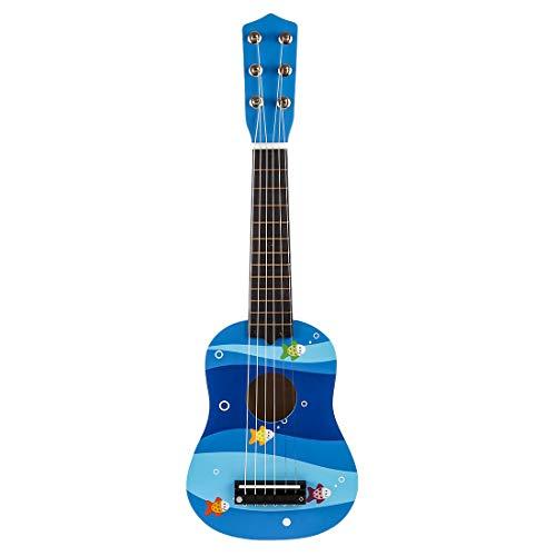 Seciie Gitarre Kinder, 6 Saiten Holzgitarre Kinder Gitarre Spielzeug Ideal Geburtstag Geschenk für Kinder und Anfänger