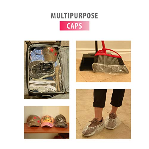 Disposable Hair Plastic Shower Cap - (50