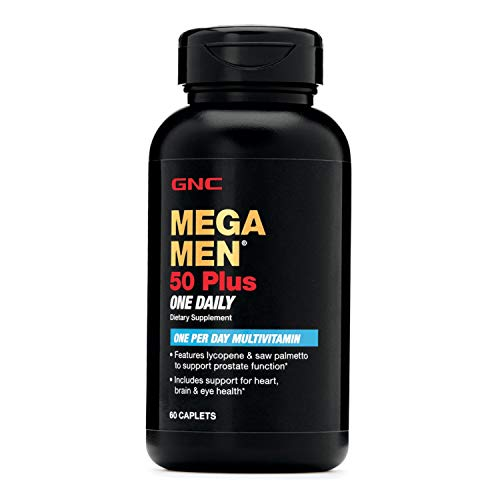 GNC Mega Men 50 Plus One Daily Multivitamin for Men, 60 Count, Take One A Day, Supports Prostate,...