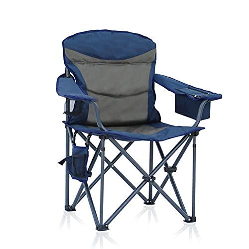 Sillón Sillas De Camping Portátiles Sillón De Playa Plegable Cuádruple con Bolsa De Almacenamiento Soporte para Bebidas para Viajes Picnic Senderismo Soporte 330 Libras, Azul (Tamaño: 60X52X102Cm) S