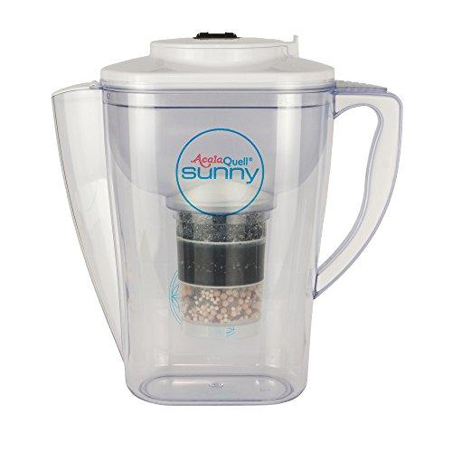 Wasserfilter AcalaQuell Sunny   Weiss   Aktivkohle Wasserfilter   Höchste Filterleistung - mehrschichtig   BPA u. BPB frei   ReNaWa® - Technology   Kreiert köstlich schmeckendes, wohltuendes Wasser