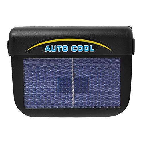 GMtes Tragbare Solaranlage angetriebene Exhaust-Fan-Kühler, Fahrzeugfenster Windschutz Auto Ventilator Ventilator Dual Power Versorgung mit wiederaufladbaren Batterie
