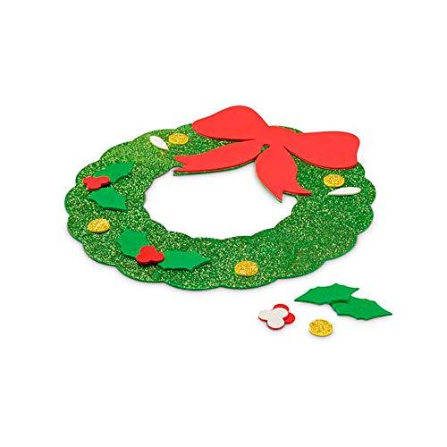 COSAS43 DETALLES PARA INVITADOS BODA-COMUNION-BAUTIZO Lote 25 Adornos guirnaldas navideños en Goma Eva, Puzzle, Regalos Baratos Infantiles, Regalos navideños guarderías, colegios