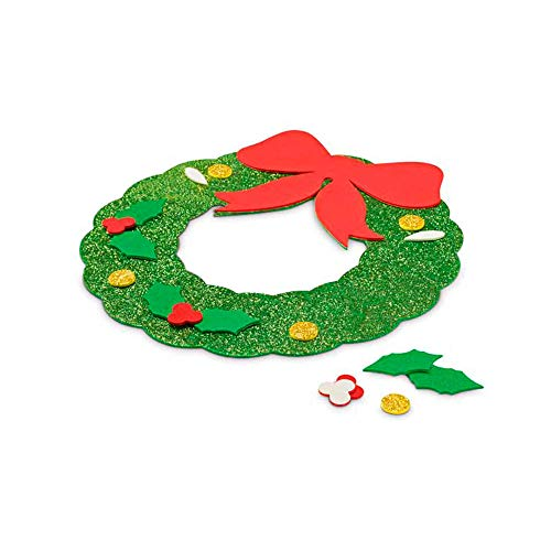 COSAS43 DETALLES PARA INVITADOS BODA-COMUNION-BAUTIZO Lote 25 Adornos guirnaldas navideños en Goma Eva, Puzzle, Regalos Infantiles, Regalos navideños guarderías, colegios