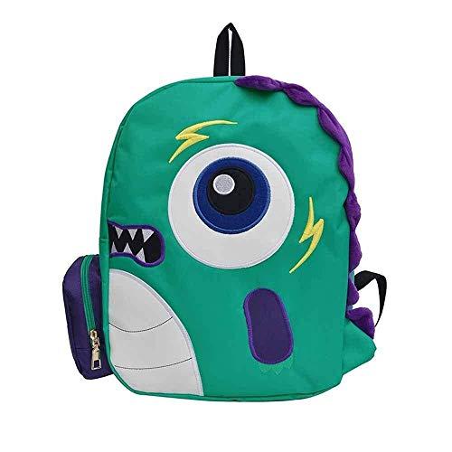 LLYDIANJunior Backpack for Kids 3D Little Monster Cute Canvas Fashion Casual Backpack, Children Backpack Cartoon Backpack (Color : Large)