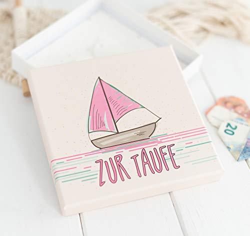 Deingastgeschenk Geldgeschenk Taufe Sailing Love (Rosa)