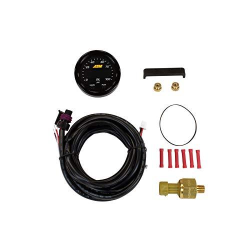 AEM 30-0301 X-Series Pressure Gauge, Black, 52mm