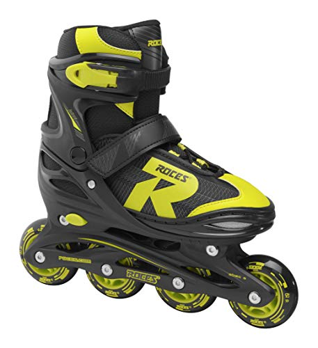 Roces Jungen Jokey 2.0 Boy Inline-Skates, Black-Lime, 34-37