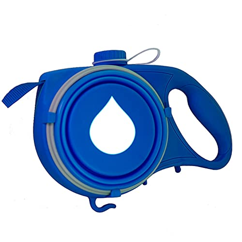 JHGJHG Cuerda Correa para Perros pequeños para Perros Grandes con dispensador de Bolsa de Botella de Agua incorporada (Color : Blue)