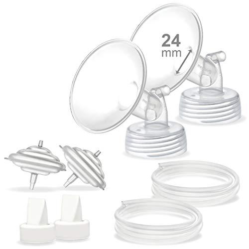 Maymom Pump Parts Compatible with Ameda MYA/Ameda MYA Pro Pump, 24mm Flange Valve Tube Backflow Protector, Not Original Ameda MYA Replacement Parts Ameda MYA Breast Pump Accessories;