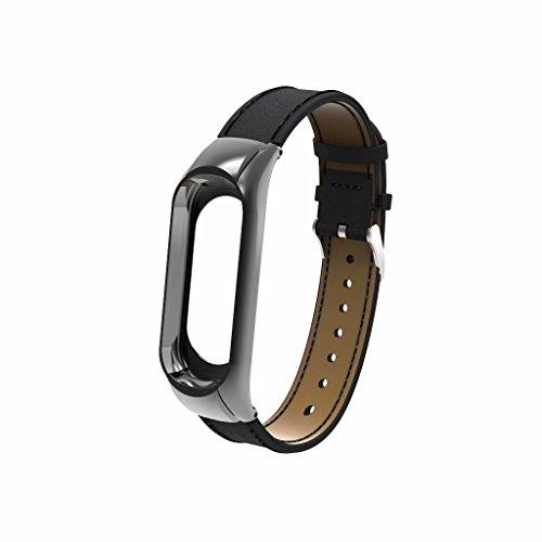 Pulseira de substituição mi band 4 ou 3 pulseira de couro para pulseira de relógio inteligente XIAOMI Band 3/4 Preto