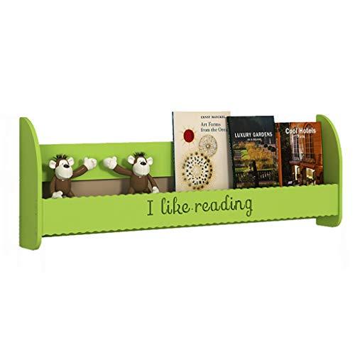 Geen ponsen muur gemonteerde boekenplank Children's Picture Books Wandplank Opbergrek Afwerkingsrek 4 Kleuren (Maat: 100 × 12 × 35cm) plank