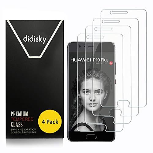 Didisky Pellicola Protettiva in Vetro Temperato per Huawei P10 Plus,[4 Pezzi] Protezione Schermo [Tocco Morbido ] Facile da Pulire, Facile da installare, Trasparente