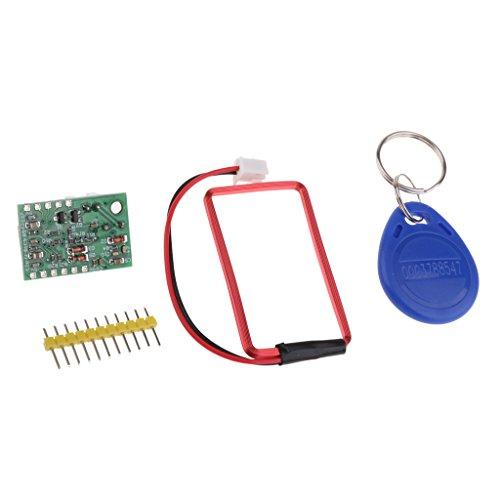 Baoblaze UART 125Khz EM4100 RFID Card Sensor Module + Key Tag For Arduino, Suitable for Building Intercom and Access Control