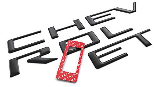 BDTrims Tailgate 3D Domed Raised Letters Compatible with 2021 Colorado Models (Matte Black)