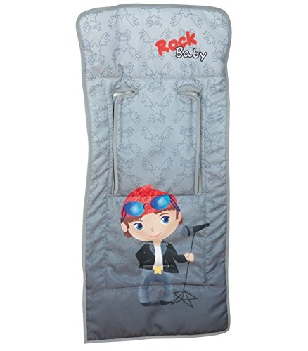 Happyway - Colchoneta De Silla Ligera Happy Way Rock Baby Gris