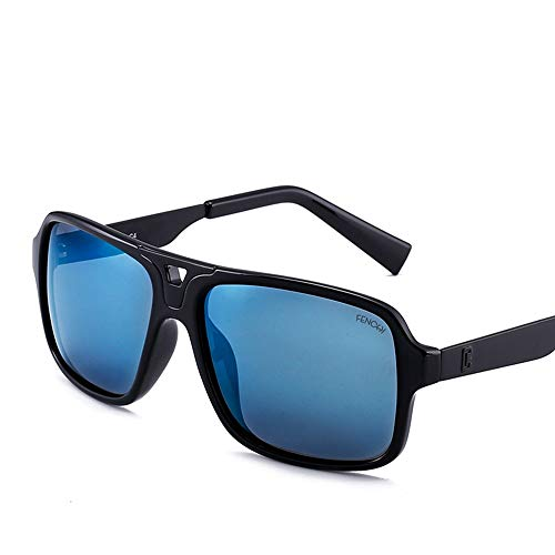 BXGZXYQ Gafas de Sol Casuales Retro Unisex cuadradas, Gafas de Sol polarizadas de Alta Gama con Lentes de Espejo UV400, diseño de Moda clásico, protección UV para Mujeres y Hombres