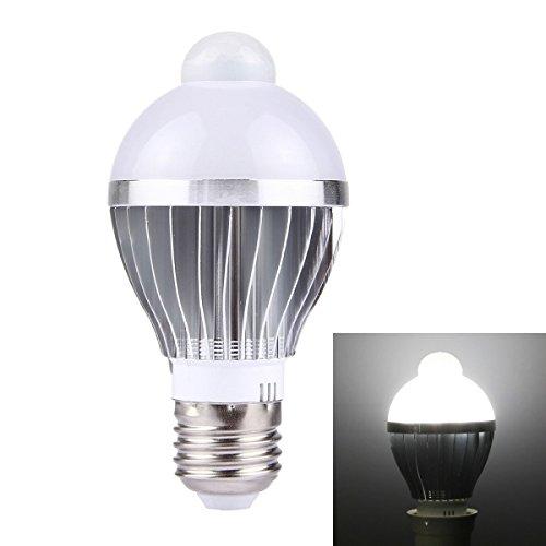 ILS E27 5W bewegingsmelder infrarood LED-lamp licht wit aluminium schelp 10 LED SMD5730 450LM AC 85-265V