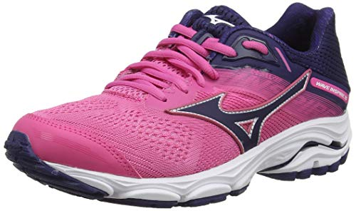 Mizuno Wave Inspire 15, Zapatillas de Running para Mujer, Rosa (CarmineRose/AstralAura 28), 38.5 EU
