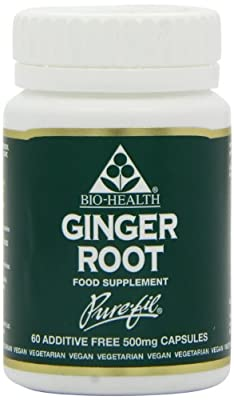 Bio-Health 500mg Ginger Root Powdered - Pack of 60 Capsules