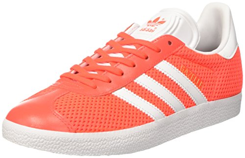 adidas Herren Gazelle Sneaker, Orange (Solar Red/Footwear White/solar Red), 44 EU