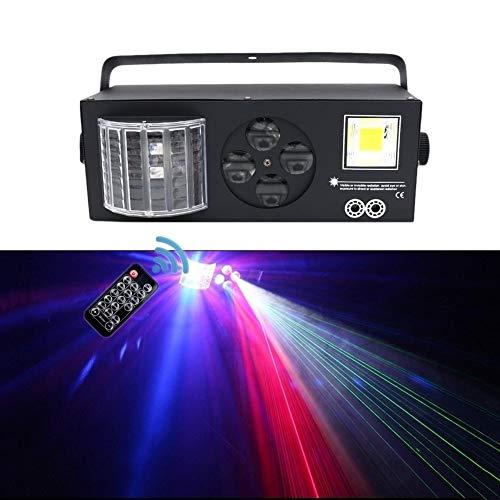 Tonaktivierte KTV-Blinklicht-Blitzlichtmuster Für Den Privaten Raum Schmetterlingseffekt-Balken Lichtstrahl Anstelle Von Vier Lichtern, Schallgesteuerte Automatische Steuerung(Color:schwarz)