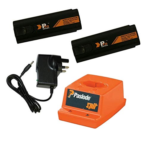 Photo of 2X Replacement Battery 6V 1.5ah (Pro Series) for Paslode Nailers + Paslode Charger Base + Wall Charger