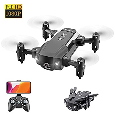 ODOMY Portable RC Drone, FPV RC Drone with 1080P HD Camera WiFi Live Video, Home Quadcopter and GPS Auto Return Home, Altitude Hold, Gravity Sensor, Modular Battery, Bonus Drone Storage Bag