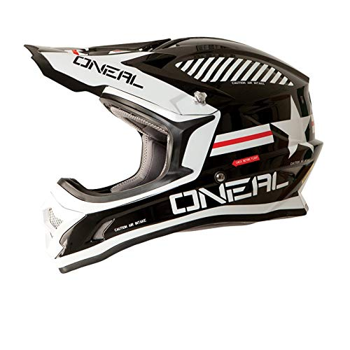 O'NEAL Kinder Crosshelm 3Series MX Afterburner Youth, Schwarz, M (49-50 cm), 0623A-23