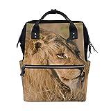 Animal Lion Nature - Mochila para pañales, diseño de león