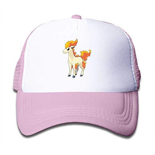 MWHprint Children's Trucker Hats for Boys&Girls Cool Adjustable Kids Cap, Pokemon Ponyta, Pink