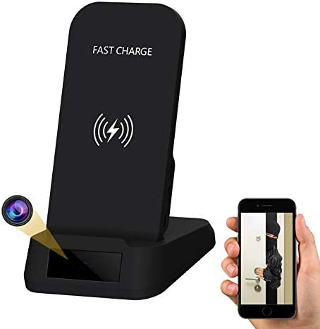 Hidden Camera WiFi Spy Camera Wireless Phone Charger 1080P HD Indoor Security Cam with Motion product image