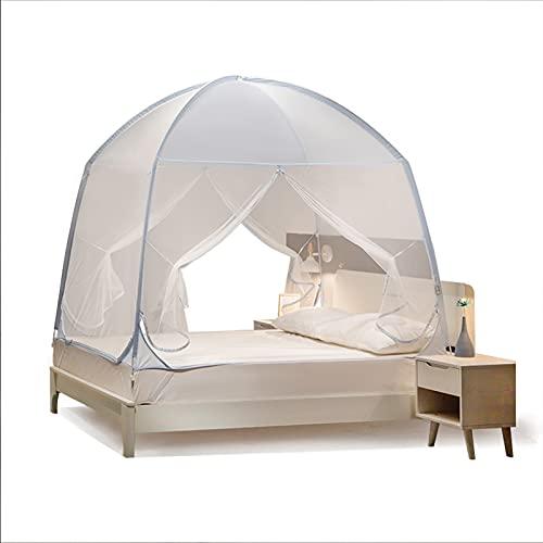 SUNDAY HOME Tienda de Mosquitos portátiles para Cama, Redes de Mosquitos Plegables con 3 entradas, Cuna con Tiendas de campaña con Mejores Agujeros, Dosel, Pantalla de Insectos, fácil de Instalar