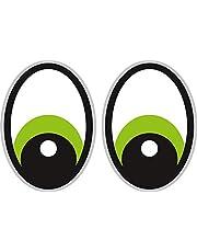 Groene zuigrobot, stickers, oogstickers, Yeux grasmaaier robotmaaier