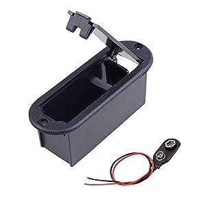 BianchiPamela 9V Battery Holder Battery Case Battery Pack For Guitar Bass Pickup Parts