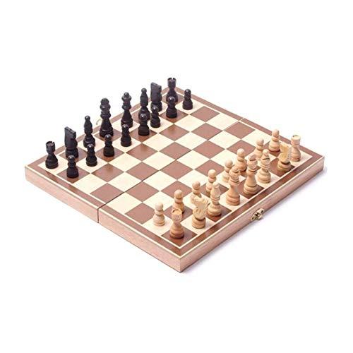 JDJD schachspiel magnetisch 3 In 1 Hölzern International Chess Set Board Reise Spiele Tragbare Reise Schachbrett Spiel Sets
