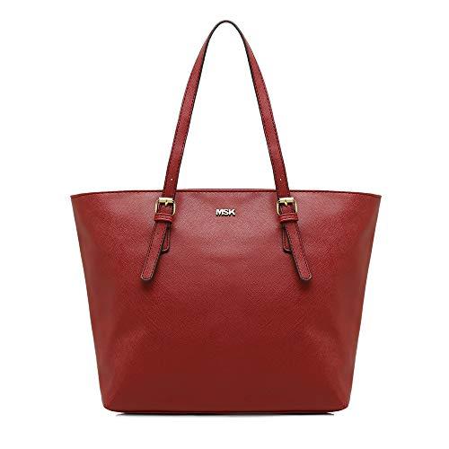 MISAKO - Bolso ASIAN Shopping 15 X 45 X 29 cm Símil Piel Burdeos | Bolso Tote MSK
