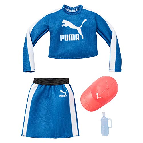 Barbie GHX82  Clothes: Puma Outfit for  Doll with 2 Accessories, Multi
