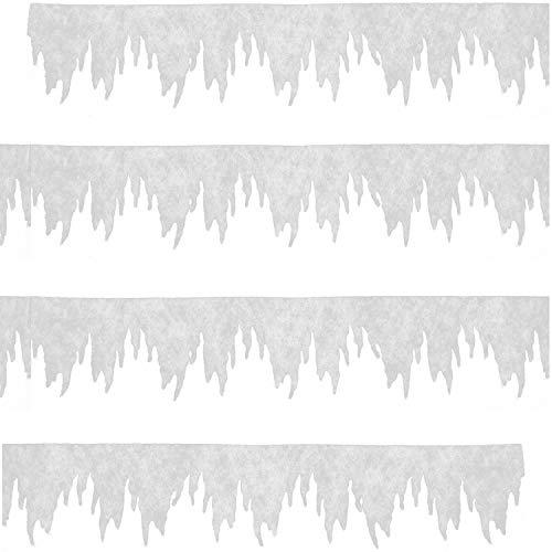 COM-FOUR® ijspegel als kerstversiering - raamfoto's Kerst - ijspegel winterversiering voor ramen en deuren (01 delig - slinger mini)