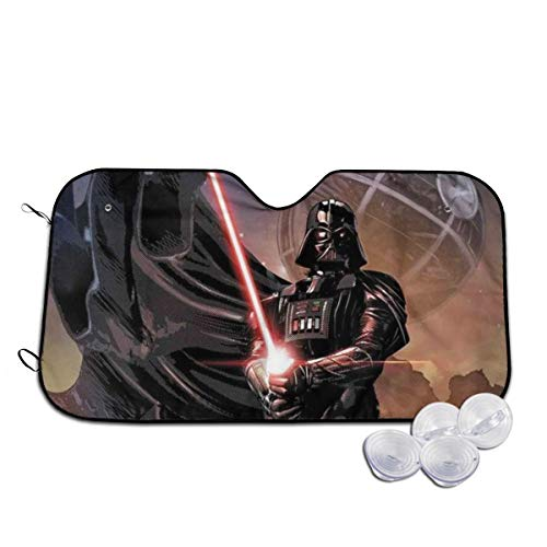 Others Darth Vader Front Windshield Shade Accordion Folding Auto Sunshade for Car Truck SUV Blocks UV Rays Sun Visor Protector Keeps Your Vehicle Cool