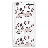dakanna Funda Compatible con [ Huawei Y6 II - Honor 5A ] de Silicona Flexible, Dibujo Diseño [ Huellas de Animales Rosas ], Color [Fondo Transparente] Carcasa Case Cover de Gel TPU para Smartphone