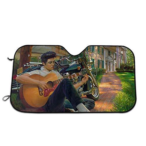 Elvis Aaron Presley (2) Fashion Foldable Car Windshield Sunshadesunshade Uv Protection Car Sunshade Keep Your Vehicle Cool 27.5 X 51 In