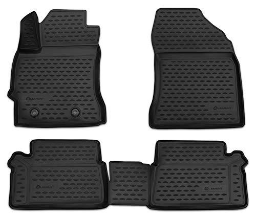 Element EXP.NLC.3D.48.62.210k Passgenaue Premium Antirutsch Gummi Fußmatten - Toyota Auris - Jahr: 12-20, schwarz