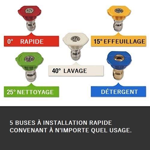 Wilks-USA RX550 - Nettoyeur Haute Pression Électrique Très Puissant 262Bar pour Voiture, Vélo, Jardin, Terrasse