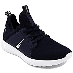 commercial Nautica Men's Casual Fashion Sneakers-Hiking Shoes-Light Jogger-Rainy-Navy-9.5 nautica kappil sneakers